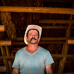 A local man stands inside a tobacco drying hut in Vinales.